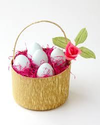 easter egg basket a basket of easter eggs martha stewart