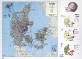 Map Of Denmark Large Scale Country Profile Map Of Denmark 1974 Denmark