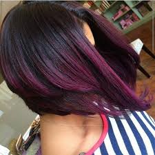 pictures of ombre hair on bob length haur purple ombre hair color brazilian hair bob style lace wig cbw07