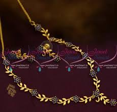 sapphire necklace price images Nl10264 simple leaf floral design sapphire blue stones gold plated JPG