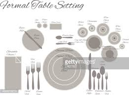 Formal Table Settings Diagram Of A Formal Table Setting Vector Vector Getty Images