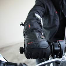 heated motorcycle clothing barra leather textile heated gloves 12v mobile warming heated