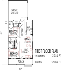 One Story House Plans With Basement by Small Low Cost Economical 2 Bedroom 2 Bath 1200 Sq Ft Single Story