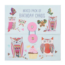 mixed birthday cards pack of 16