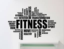 fitness motivation word cloud wall sticker gym quote sports zoom