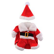 santa claus costume christmas pet dog cat puppy clothes santa claus costume suit