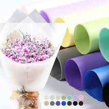 clear wrapping paper 20pcs half clear waterproof flowers wrapping paper gift wrapping