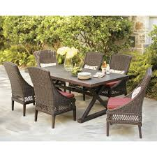 Hampton Bay Patio Furniture Cushions by Hampton Bay Woodbury 7 Piece Patio Dining Set With Chili Cushion