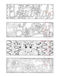 coloring pages bookmarks bookmark coloring pages printable feathers coloring page bookmarks