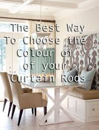 Cream Wooden Curtain Poles The Best Way To Choose The Colour Of Your Curtain Rods Maria