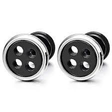 back earrings for men mens earrings archives the sterling silver