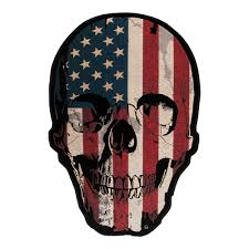 Black And White American Flag Bandana American Flag Distressed Skull Patch Back Patches