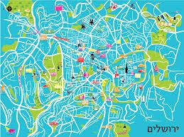Map Of Jerusalem Jerusalem Map Galia Amitai