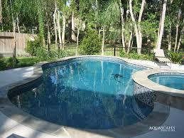 Aquascapes Pools Inground Pool With Raised Tub Tile Ideas Spa U2013 Round Raised