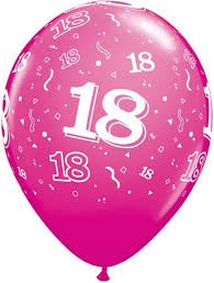 balloons for 18th birthday pink 18th birthday balloons pk6 party fever