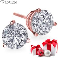diamond stud earrings sale gift sale 0 53 ct vs1 3 prong diamond stud earrings 14ct gold