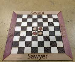 Ancient Chess Set Laser Cut Personalized Chess Board