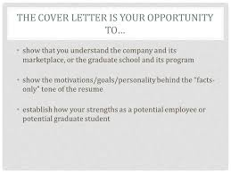 the cover letter the cover letter is your opportunity to u2026 show