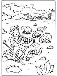 coloring page david as boy david the shepherd boy coloring page