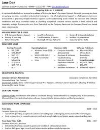 Information Technology Resume Skills Example It Resume Examples Of Resumes With No Experience Student