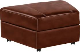 brown ottomans fabric microfiber storage