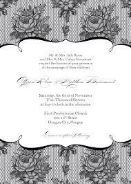 free wedding invitations sles stunning wedding invitation templates free printable and black