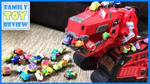 dinotrux toys tyrux eats 30 trash wheels vehicles 다이노트럭 trash