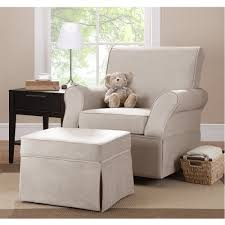 Rocking Chair Cushions For Nursery by Furniture Stunning Glider Rocker With Ottoman And White Cushion
