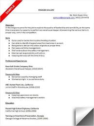 Resume Warehouse Examples by 100 Warehouse Worker Job Description For Resume Cover