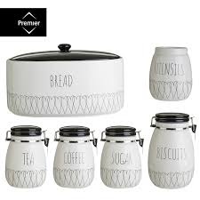 morphy richards tea coffee sugar biscuit cake kitchen storage tins