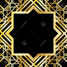 abstract geometric frame in art deco style royalty free cliparts