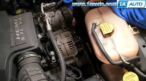 auto repair replace serpentine belt dodge ram 02 08 5 7l hemi