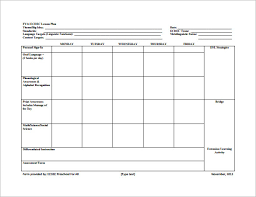 8 lesson plan templates u2013 free sample example format download