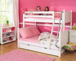 Bunk Beds With Trundle Girls Bunk Bed With Ladder U0026 Trundle Maxtrix Furniture