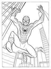 fresh spider man color pages 13 on coloring for kids with spider