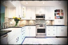 condo kitchen ideas backsplash for white cabinets and grey countertop small kitchen
