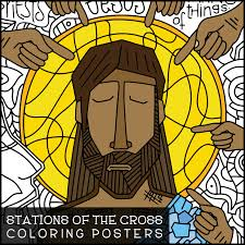 stations of the cross coloring posters u0026 coloring pages