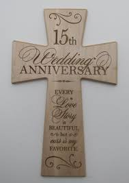 15 year anniversary gifts buy 15th wedding anniversary maple wood wall cross gift for