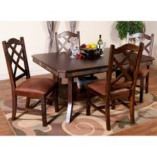 santa fe wood double leaf dining table in dark chocolate humble