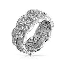 silver rings vintage images Bling jewelry cz vintage style leaf band sterling jpg