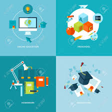 design online education vector school and education icons set for web design and mobile