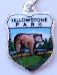Wyoming travel products images Usa travel shield charms shield charms vintage jpg