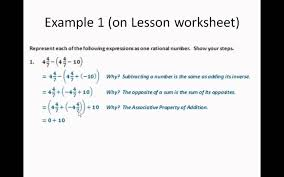 adding and subtracting rational numbers worksheets 09 applying properties to adding and subtracting rational numbers