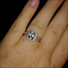 white topaz engagement ring my new white topaz e ring