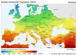 map europ world solar pv energy potential maps