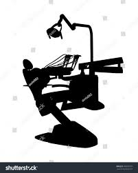 Office Chair Clipart Dentist Office Vector Silhouette Illustration Isolated Stock