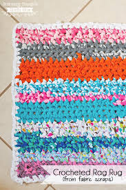 Coil Rug How To Crochet A Rag Rug With Fabric Scraps Scattered Thoughts
