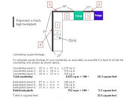 Total Square Footage Calculator How To Figure Square Footage For Countertops Bstcountertops
