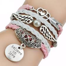 braided leather charm bracelet images Five layer braided leather charm bracelet best stylish bracelets jpg