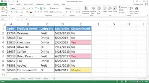 sort and filter data office support